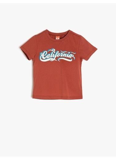Koton Kids Yazılı Baskılı T-Shirt Kırmızı